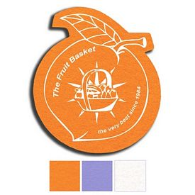 Promotional Peach Shammy Coaster