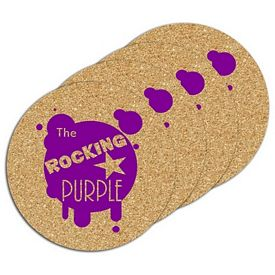 Promotional Circle Cork Coaster Set