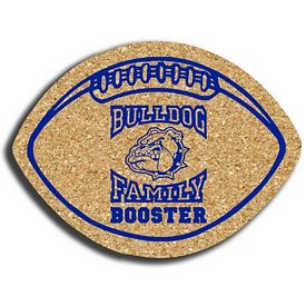 Custom Football Small Cork Coaster