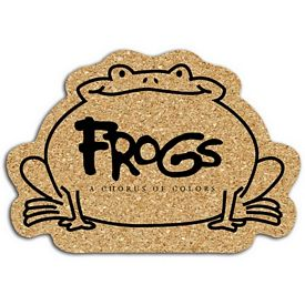 Promotional Frog Small Cork Coaster