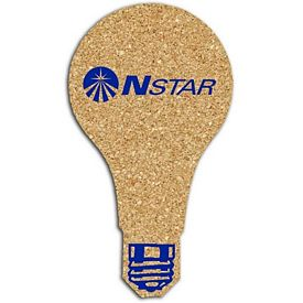 Promotional Light Bulb Small Cork Coaster