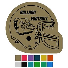 Customized Football Helmet Classic Rubber Medium Jar Opener