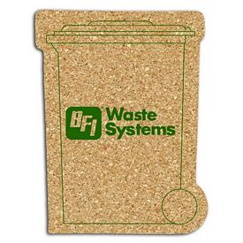 Custom Recycle Bin Medium Cork Coaster