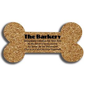 Promotional Dogbone Medium Cork Coaster