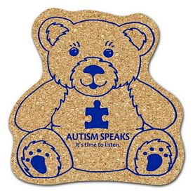 Promotional Teddy Bear Medium Cork Coaster