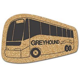 Custom Bus Medium Cork Coaster