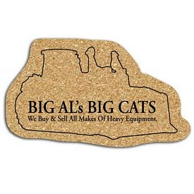 Promotional Bulldozer Medium Cork Coaster