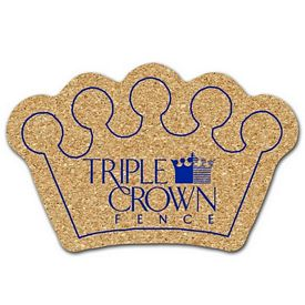 Promotional Crown Medium Cork Coaster