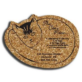 Promotional Cat Medium Cork Coaster
