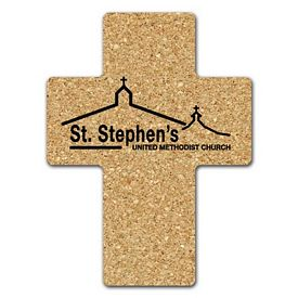 Customized Cross Medium Cork Coaster