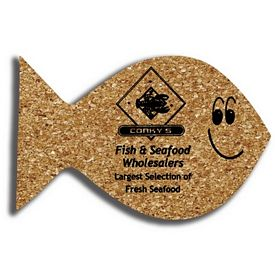 Promotional Fish Medium Cork Coaster