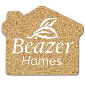 Promotional House Medium Cork Coaster