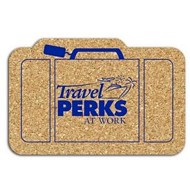 Promotional Suitcase Medium Cork Coaster