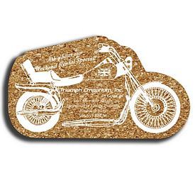 Customized Motorcycle Medium Cork Coaster
