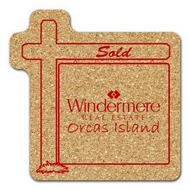 Custom Real Estate Sign Medium Cork Coaster
