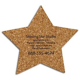 Custom Star Medium Cork Coaster