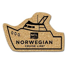 Promotional Yacht Medium Cork Coaster