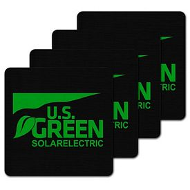 Promotional Square Recycled Tire Coaster Set