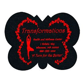 Customized Butterfly Recycled Tire Medium Coaster
