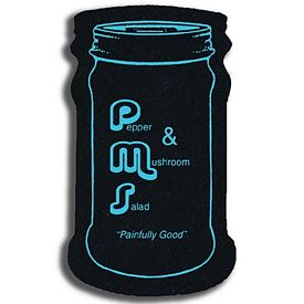 Promotional Narrow Jar Recycled Tire Medium Coaster
