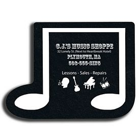 Custom Music Note Recycled Tire Medium Coaster