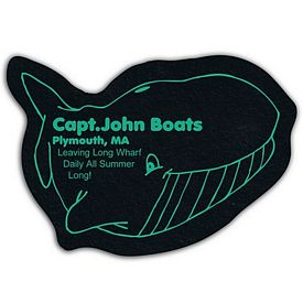 Promotional Whale Recycled Tire Medium Coaster
