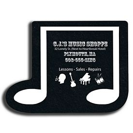 Promotional Music Note Re-Tread Medium Jar Opener