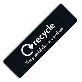 Promotional Rectangle Recycled Tire No-Slip Bookmark Jar Opener