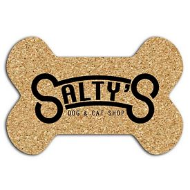 Promotional Dog Bone Soft Cork Mat