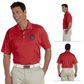 Customized adidas A130 Mens ClimaLite Basic Short-Sleeve Polo