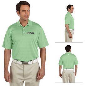 Customized adidas A161 Mens ClimaLite Textured Short-Sleeve Polo Shirt