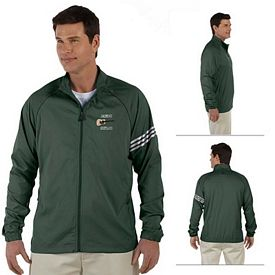 Customized adidas A69 Mens ClimaProof 3-Stripes Full-Zip Jacket