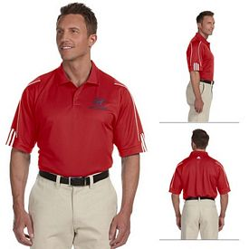 Customized adidas A76 Golf Mens ClimaLite 3-Stripes Cuff Polo Shirt
