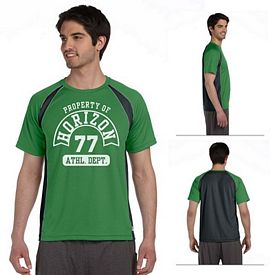 Customized All Sport M1004 Mens Short-Sleeve Colorblocked Crew