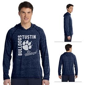 Customized All Sport M3101 Mens Performance Triblend Jersey Long-Sleeve Hooded Pullover