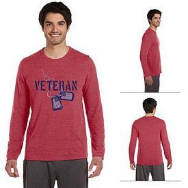 Customized All Sport M3102 Mens Performance Triblend Long-Sleeve T-Shirt