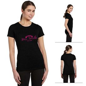 Customized All Sport W1101 Ladies Performance Triblend Short-Sleeve T-Shirt
