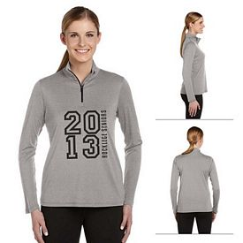 Customized All Sport W3006 Ladies 1-4 Zip Lightweight Pullover