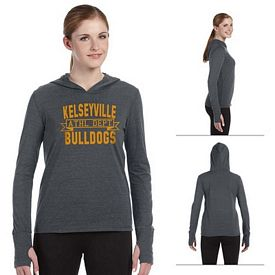 Customized All Sport W3101 Ladies Performance Triblend Long-Sleeve Hooded Pullover