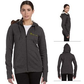 Customized All Sport W4010 Ladies Performance Fleece Full-Zip Hoodie with Runners Thumb
