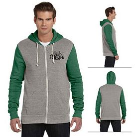Customized Alternative AA3203 Unisex Rocky Color Blocked Full-Zip Hoodie