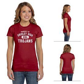 Customized Anvil 498 4.5 oz Ladies Organic Fashion T-Shirt