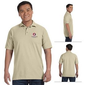 Customized Anvil 6020 6.5 oz Mens Ringspun Pique Polo