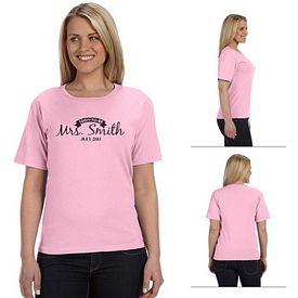Customized Anvil 641 5.4 oz Ladies Heavyweight Scoop Neck T-Shirt