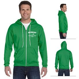 Customized Anvil 71600 Adult Combed Ringspun Fashion Fleece Full-Zip Hood
