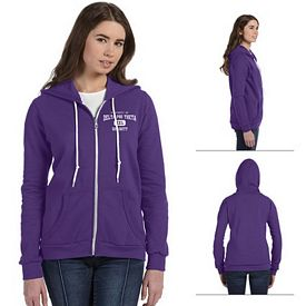 Customized Anvil 71600L Ladies Combed Ringspun Fashion Full-Zip Hood