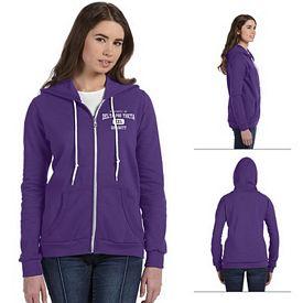 Customized Anvil 71600L Ladies Combed Ringspun Fashion Full-Zip Hood