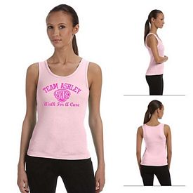 Customized Bella 1080 Ladies' Baby Rib Tank Top
