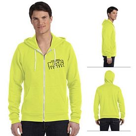 Customized Bella 3739 Unisex Poly-Cotton Fleece Full-Zip Hoodie
