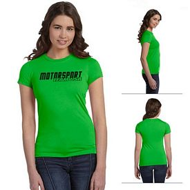 Customized Bella 6650 Ladies' Poly-Cotton Short-Sleeve T-Shirt